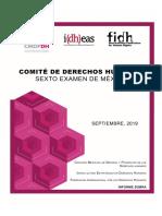 Informe - Comité de Derechos Humanos ,Sexto Examen México