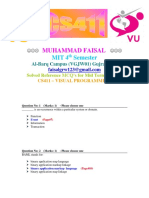 CS411 Midterm Reference MCQ's File by Faisal