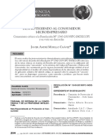 Desprotegiendo al consumidor microempresario. Comentario crítico a la Resolución N° 1590-2019/SPC-INDECOPI y su voto en discordi