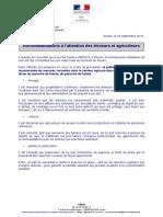 Recommandations Éleveurs Agriculteurs Lubrizol
