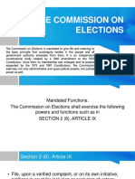The Commission on Elections