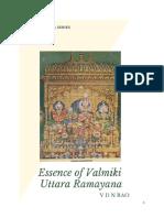 Essence of Valmiki Uttara Ramayana
