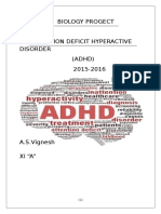 294425409 Biology Investigatory Project on Adhd