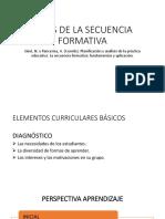 Fases de La Secuencia Formativa
