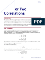 Tests for Two Correlations
