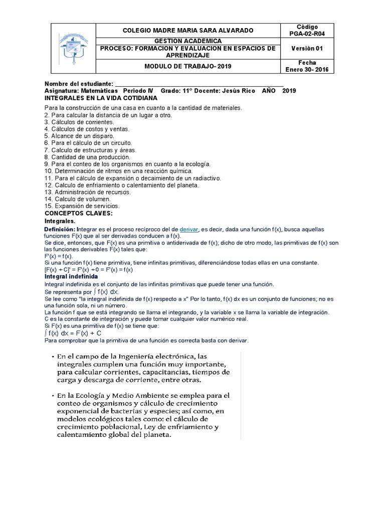 Matematicas 11 Modulo 4 Periodo Intégral Fonctionnalités