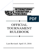 International Federation of Pickleball Official Tournement Rulebook
