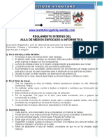 reglamento  laboratorio cómputo EJEMPLO