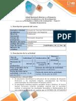 Guía de Actividades y Rúbrica de Evaluación - Fase 3 - Elaboración de Estados Financieros