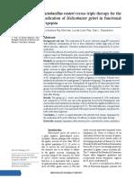 Lactobacillus Reuteri Versus Triple Therapy for Th
