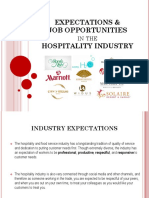 Expectations & Job Opportunities in the Hospitality Industry