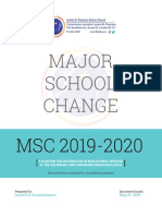 Major School Change study