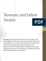 Neonate and Infant Health