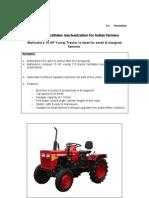 Mahindra Facilitates Mechanization for Indian Farmers