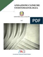 Raccomandazioni in Odontostomatologia