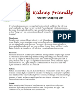 kidney friendly diet handout
