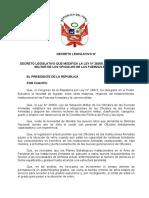 PROY D Leg - Ley Situacion Militar Limpio
