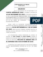 Anuncio Electoral Cortes Generales