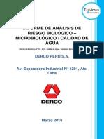 Informe de Monitoreo N° 014 - 2018 - Calidad de Agua - Travimus - Derco Perú S.A. - Ate