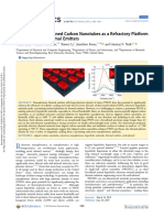 Macroscopically Aligned Carbon Nanotubes as a Refractory Platform