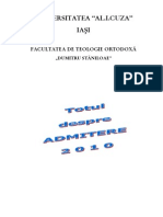 Brosura admitere Teologie 2010