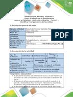 Guía de actividades y rúbrica de evaluación - Tarea 2 - Identificar la organización de las células.pdf