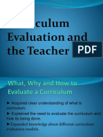 Curriculum Evaluation and the Teacher