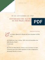 30 Septiembre Natalicio de José María Morelos y Pavón