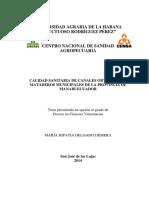 CALIDAD SANITARIA DE CANALES