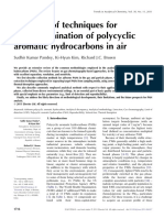 A Review of Techniques Forthe Determination of Polycyclicaromatic Hydrocarbons in Air