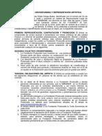 MODELO DE CONTRATO PARA REPRESENTACION DE ARTISTAS