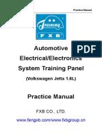 Manual FXB-I22005 Automotive Electrical System Training Panel (Volkswagen Jetta 1.6L)