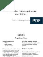Propiedades físicas, químicas, mecánicas