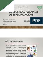 3.6 Tecnicas Formales de Especificacion