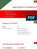 Brocade Cisco CLI Comparison