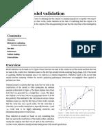 Statistical Model Validation