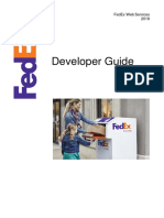 FedEx WebServices DevelopersGuide v2019