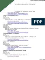 Journal List Science Citation Energy