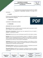 Procedimiento Control de La Documentacion