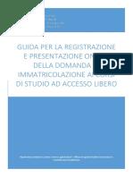 Immatricolazione Corsi Ad Accesso Libero on Line