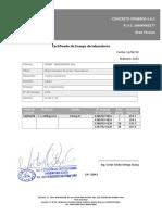 Formato Certificado de Ensayo
