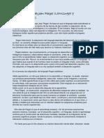 Teoría Cognitiva de Jean Piaget Lenguaje y Pensamiento.