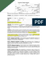 Modelo Contrato Trabajo Extranjero