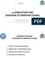 Intro to manufacturing