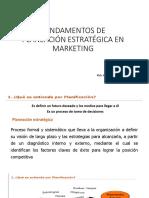 Fundamentos de Planeación Estratégica en Marketing Clase IV