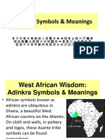 Adinkra Symbols and Meanings