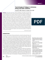 Physiological and Psychological Fatigue in Extreme Conditions- Overtraining and Elite Athletes