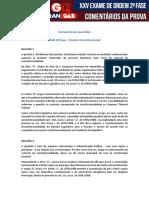 2ª Fase XXV Exame de Ordem Direito Constitucional Questões 1 e 2 Daniel Falcão