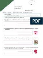 Evaluacion matematica  3°(Resolucion de problemas)