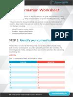 Habit Formation Worksheet